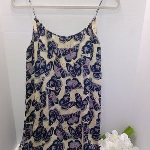 TUCKER Tank Dress with Butterfly Design